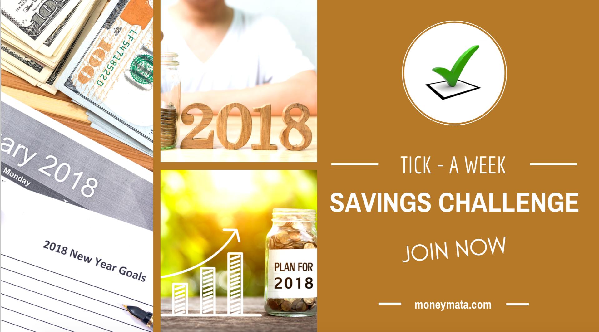 Join Tcik a Week Savings Challenge